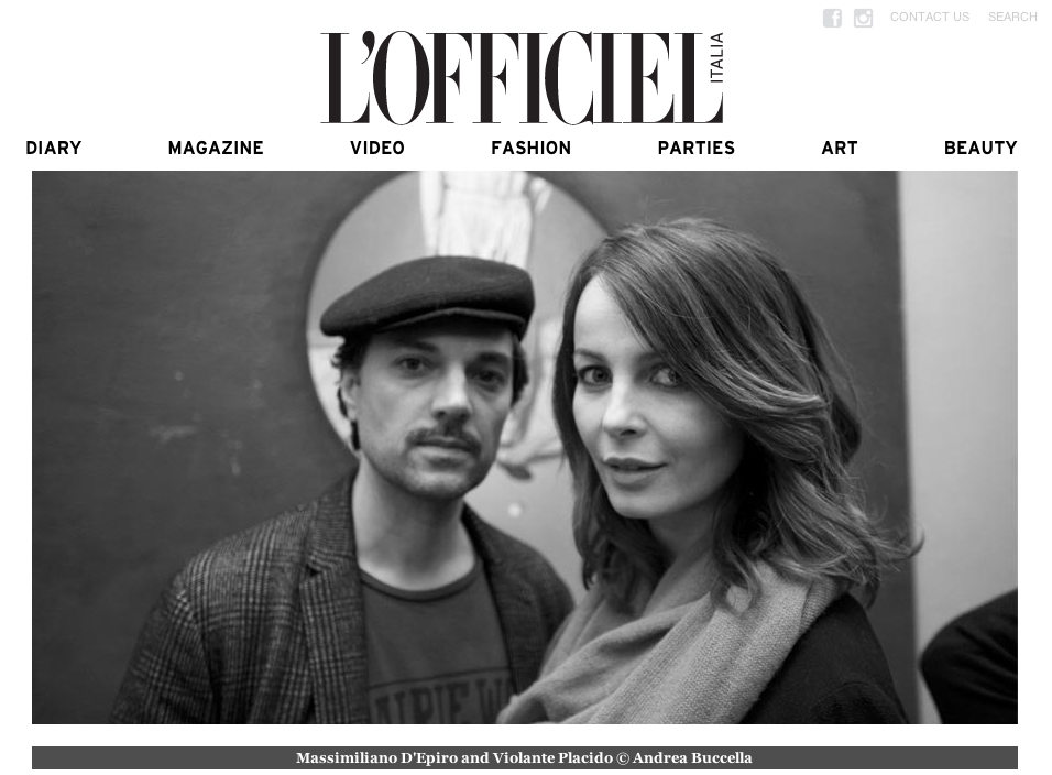L'Officiel Italia – Asvoff dinner party
